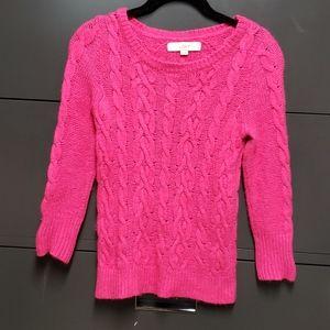 Loft pink sweater XS